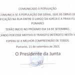 Requalificação da estrada em Pomares, Pontão – Praia Fluvial